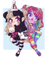 Commi Clown couple by Myshumeaw