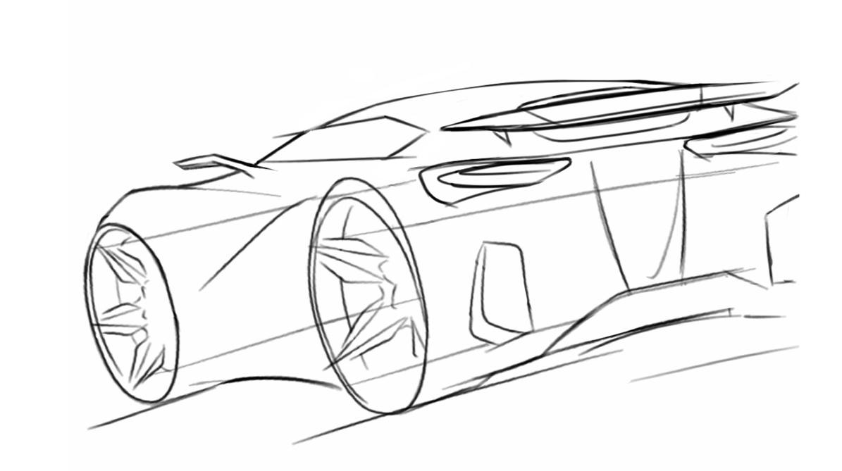 Best Line Drawing Concept Car Line Drawing