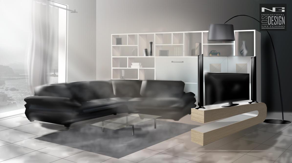 Interior Design 2d Rendering By Snatchids On Deviantart