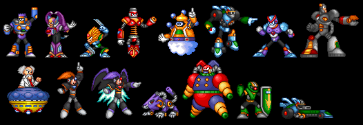 Megaman 7 Character Sprites By ScytheSorceressAvi On