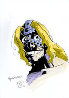copic face drawing study 6/6 -Spartacus(FGO)- by samejimachich