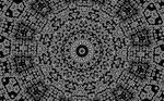 Black and White abstract kaleidoscopic wallpaper by BrittleBlueFox
