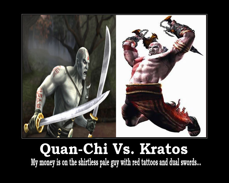 Quan-Chi vs  Kratos by PrideLanternCorps on DeviantArt