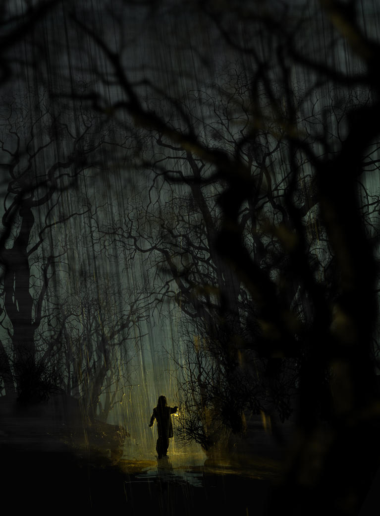 Night walk in the forest by APetruk