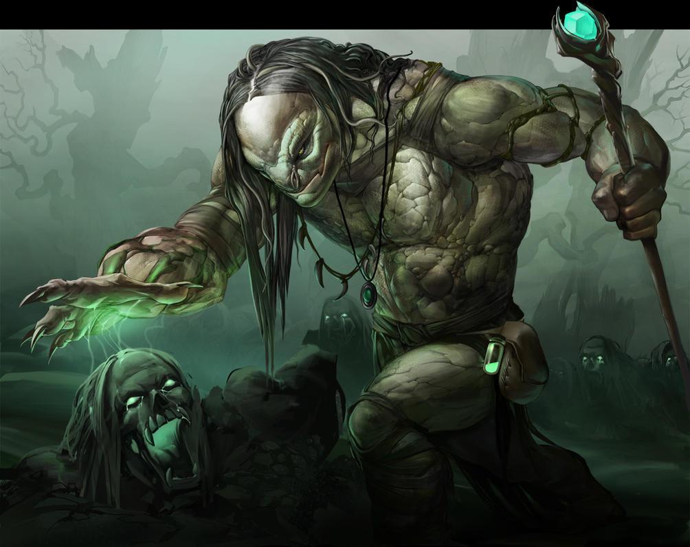 Swamp warlock by APetruk