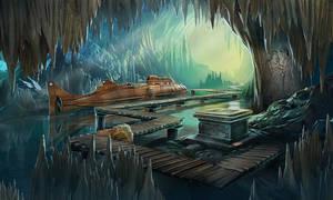Underwater Cave Altar