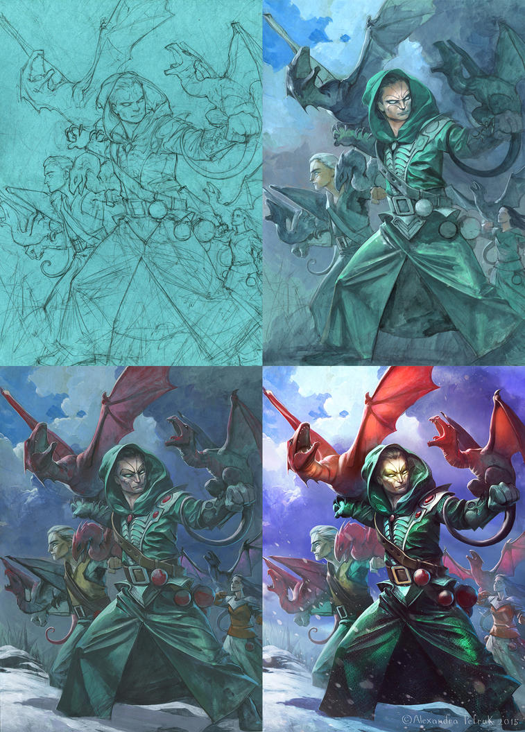 Dragon Masters Process Art by APetruk