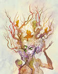 Insightful tree of wisdom and absurdity