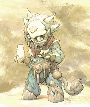 Sketch of an imp for sculpting project by APetruk