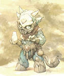 Sketch of an imp for sculpting project