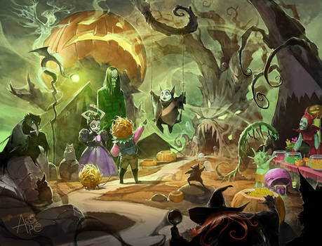 Halloween town this time of year
