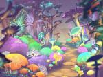 Acid mushroom garden