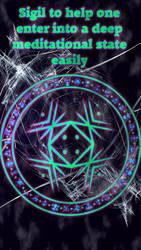 Sigil to help one enter into a deep meditational.. by WolfOfAntimony