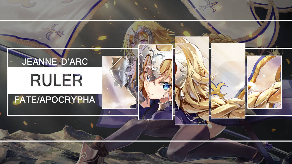 Fate Apocrypha Wallpaper Ruler Jeanne D'arc by kurome0 ...
