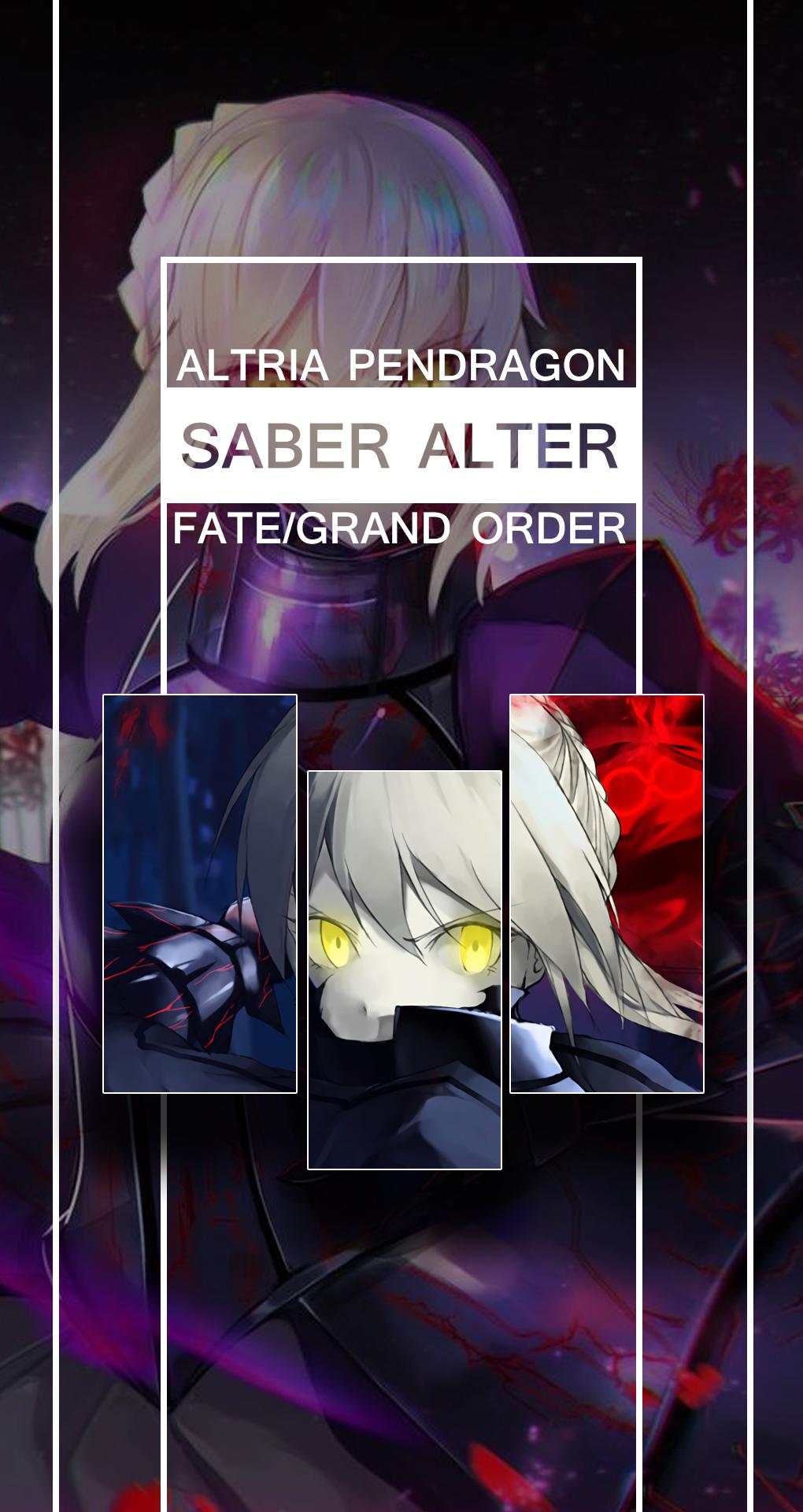 Fate Grand Order Mobile Wallpaper Saber Alter By Kurome0 On Deviantart