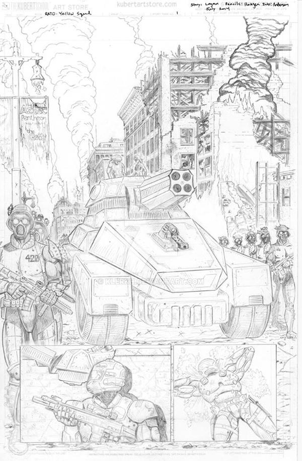 Yellow Squad Pg1 Pencils by klerkh