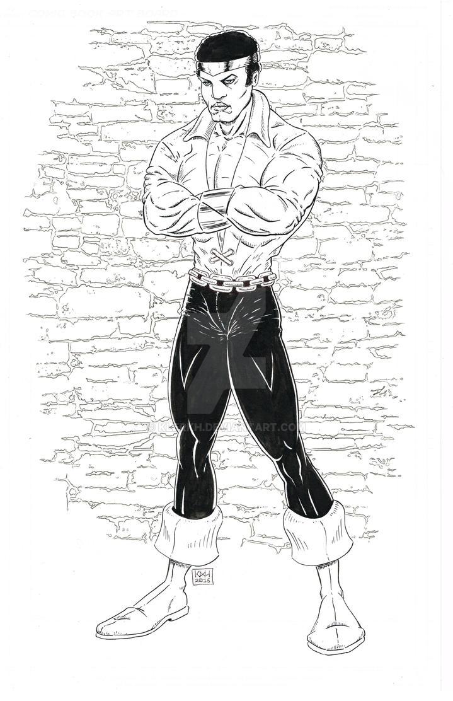Powerman Inked w Bkgrnd by klerkh