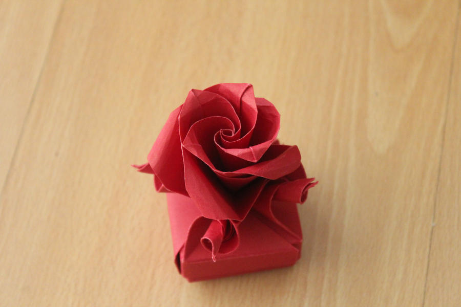 Rose Box By Origami Cuber On Deviantart