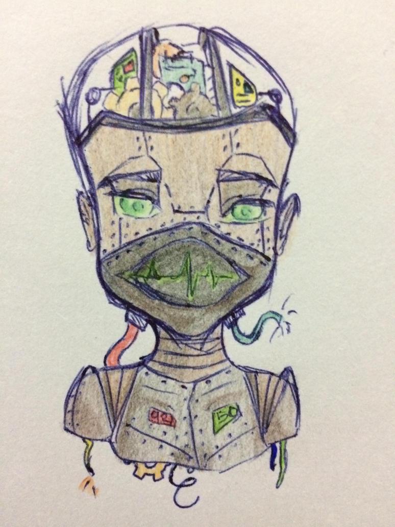 Humanoid Bot Sketch by TerraTora