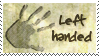 Left handed stamp by WhiteKimahri