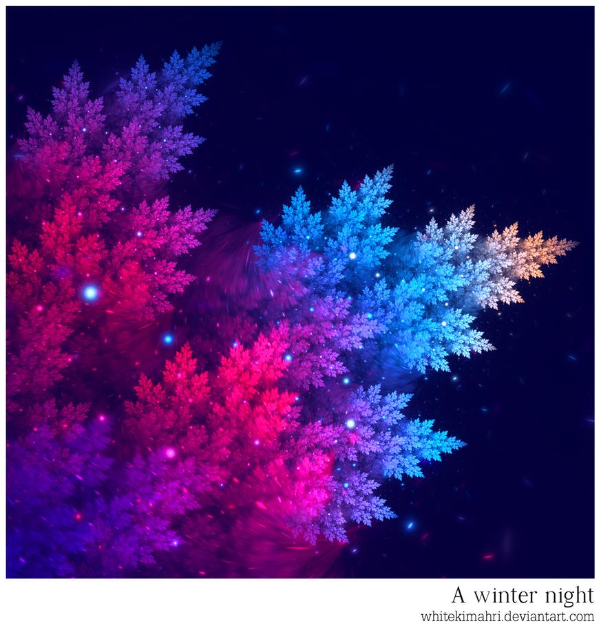 A winter night by WhiteKimahri