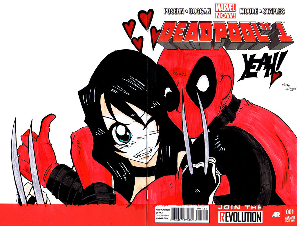 Kid Deadpool Deadpool x23 sketch cover done X 23 Costume