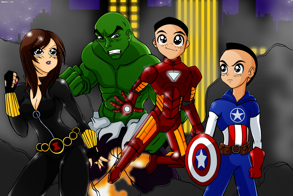 Family Potrait Avengers by the-kid36