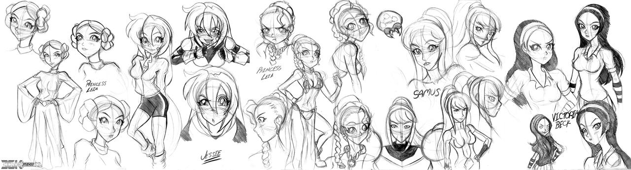 Massive Sketch Dump 05 by the-kid36