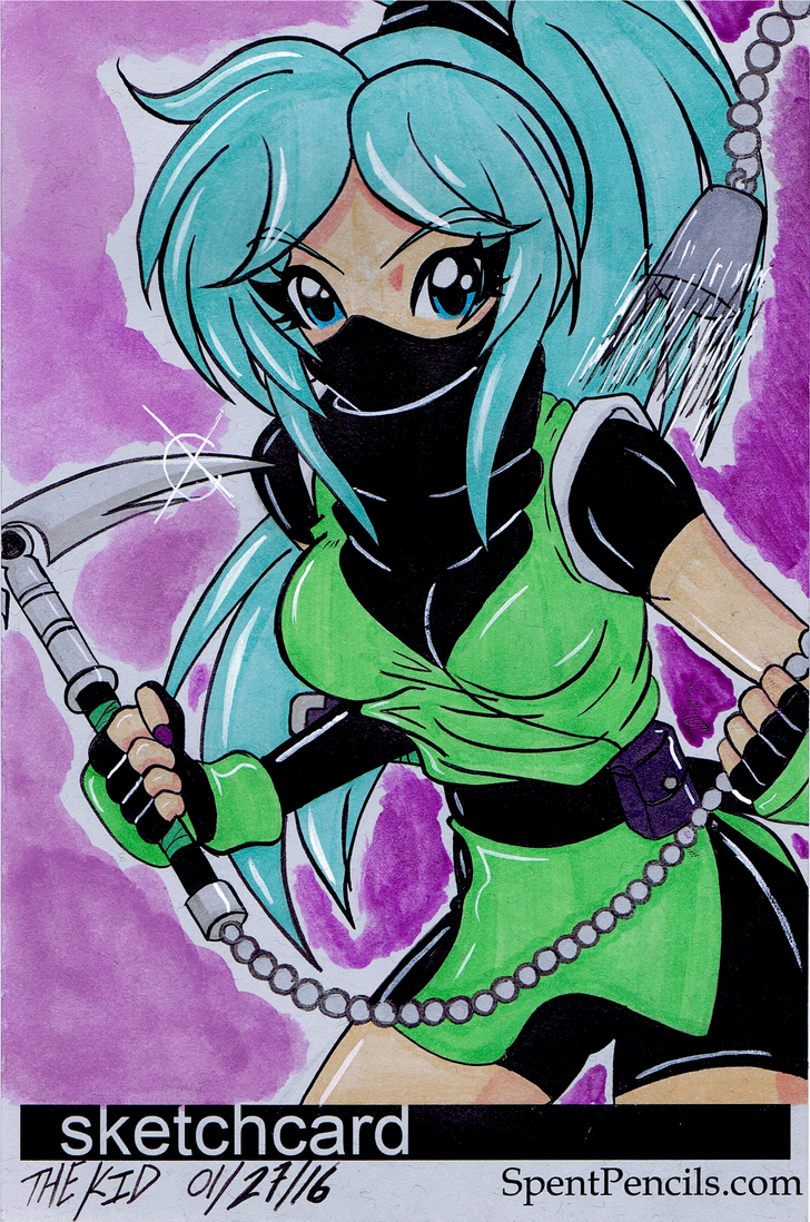 Tiffany Attacking Ninja by the-kid36