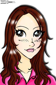 Brunette Anime Girl