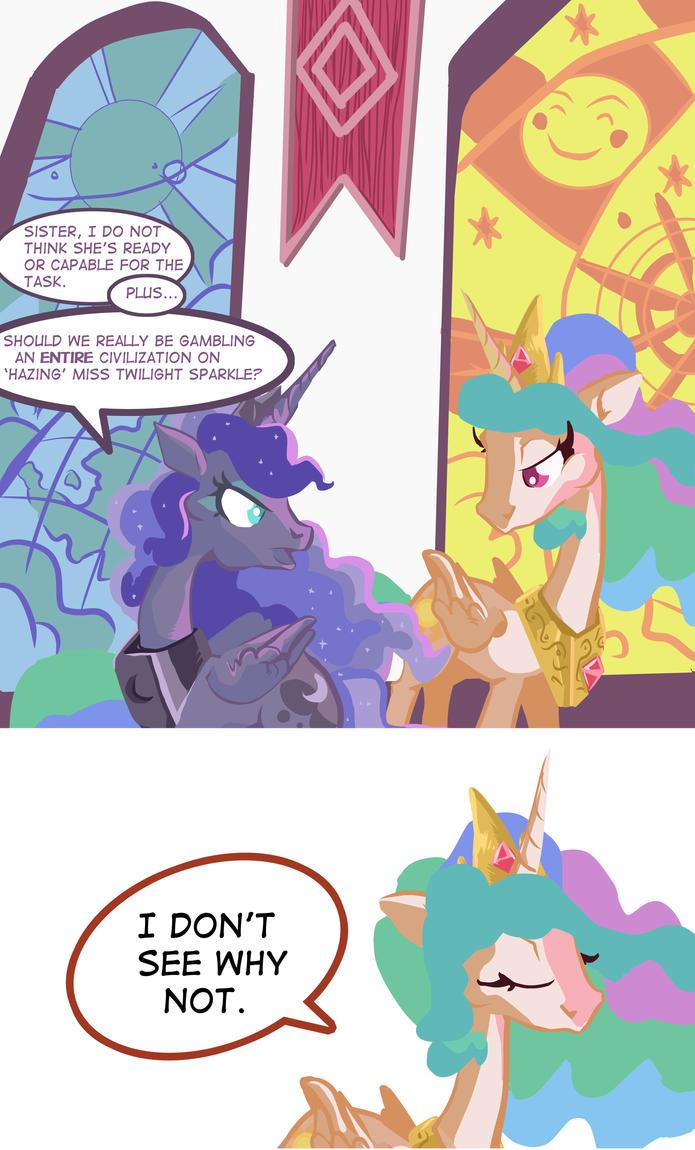MLP Comic: Benevolent Celestia by Dunnstar