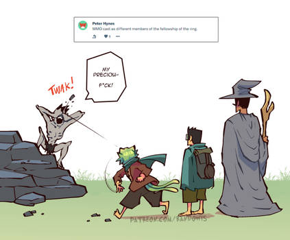 Weekly Doodles - The Fellowship by RandoWis