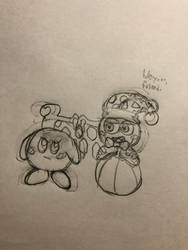 Quick Sketch: Kirby Star... Allies? by Tempest-Requiem