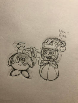 Quick Sketch: Kirby Star... Allies?
