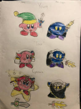 Concept: Kirby and Meta Knight - Through the Years