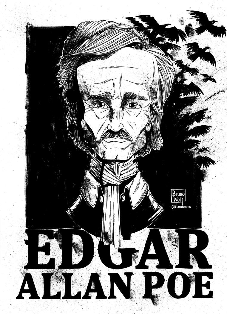 Edgar Allan Poe by brunoces