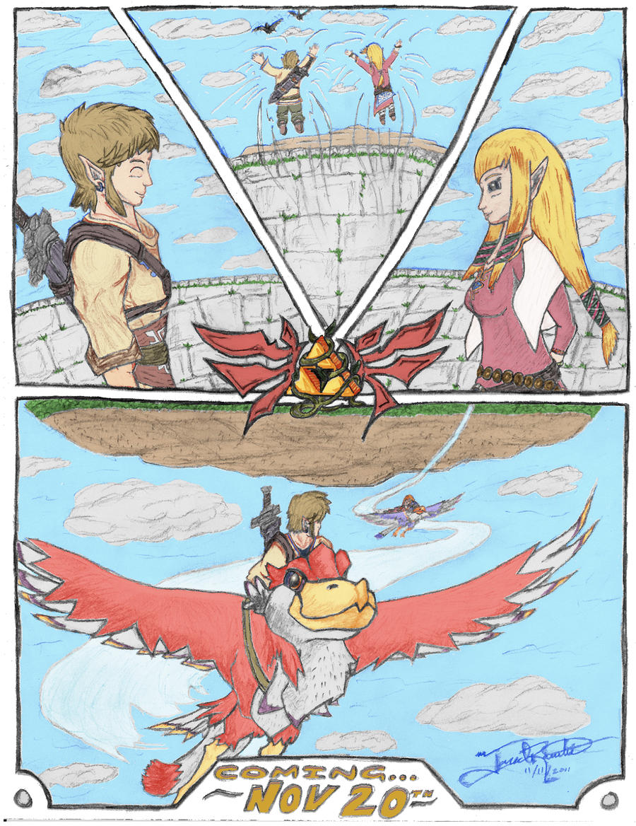 Skyward Sword Link And Zelda Comic Panel By JR1708