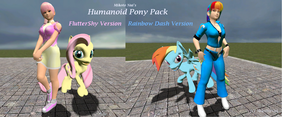 Sexy Anthro Fluttershy And Rainbow Dash