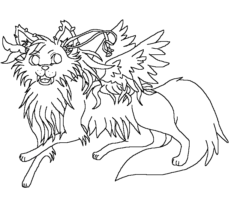 baby winged wolf coloring pages - photo#10