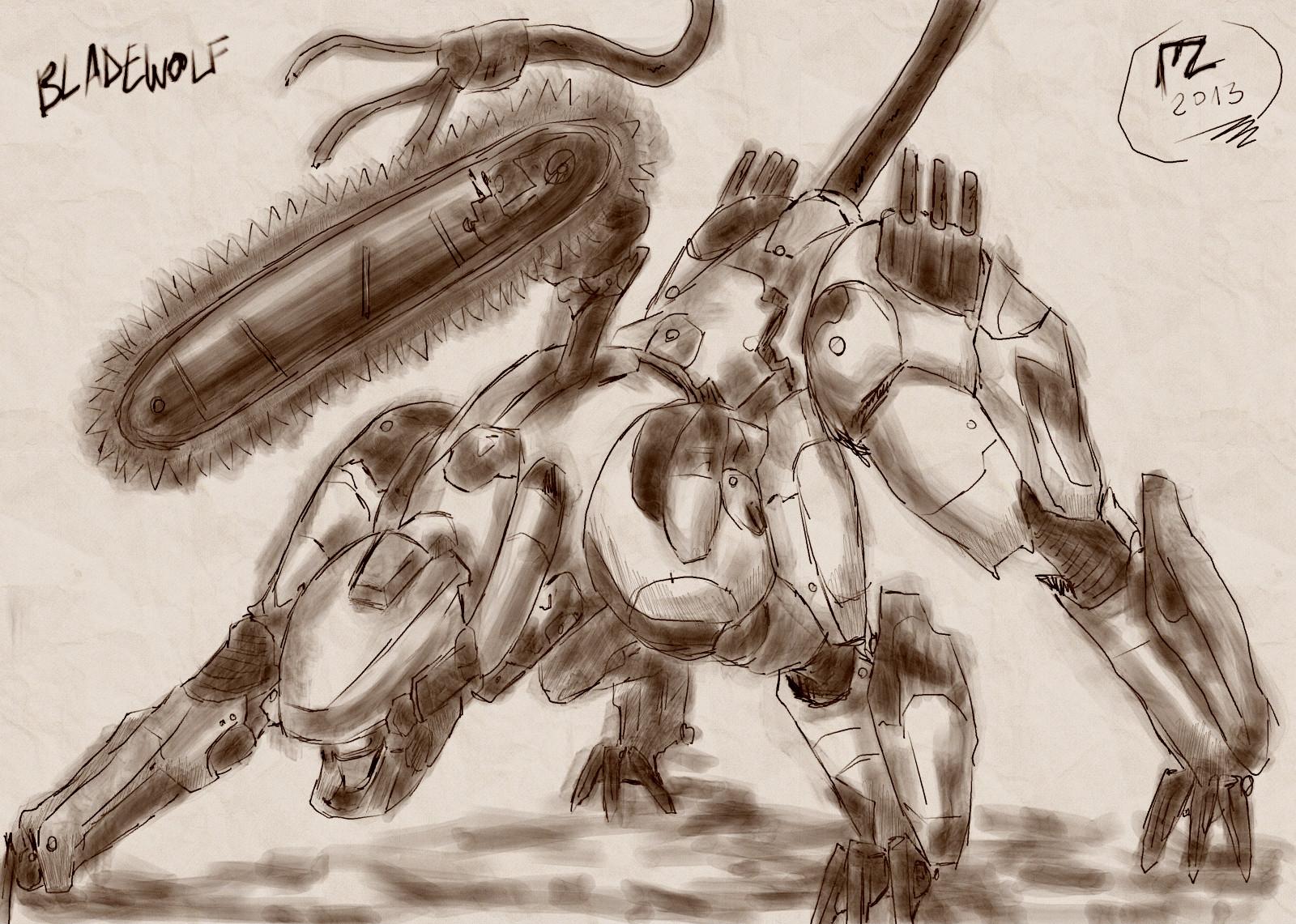 Metal Gear 25th Anniversary BLADEWOLF by blue-hugo