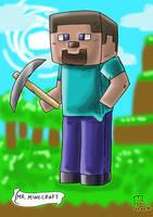 VGC #123 - Mr. Minecraft (Steve) by blue-hugo