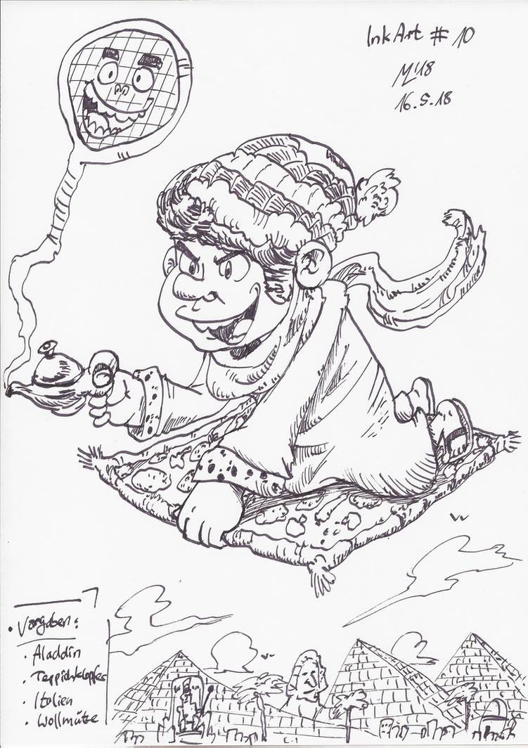 InkArt #10: Vorgabenrunde - Random Aladdin by blue-hugo