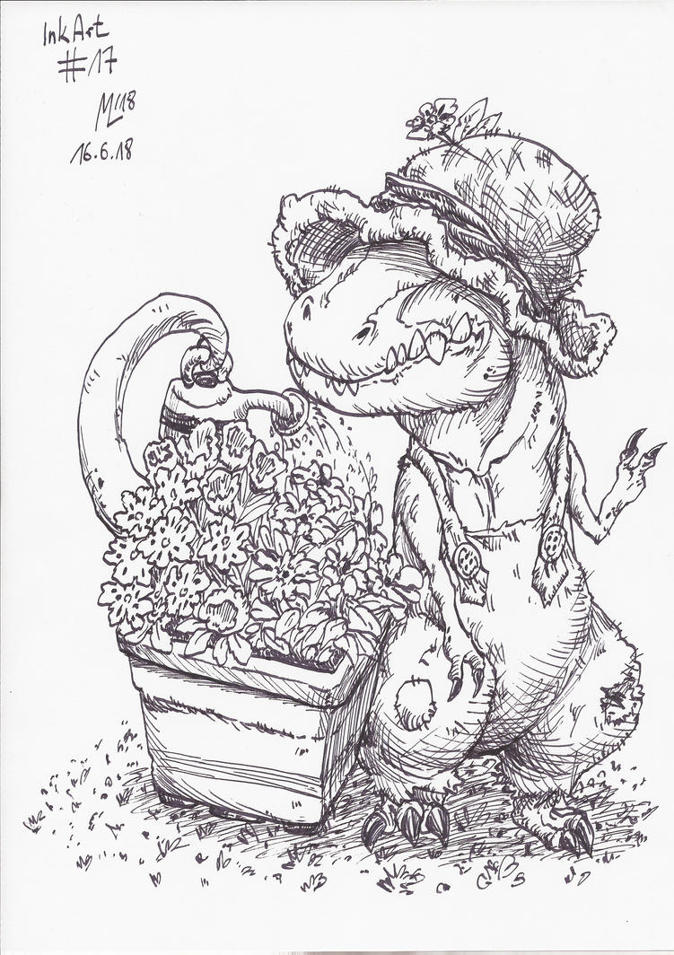 InkArt #17: King of the Garden by blue-hugo