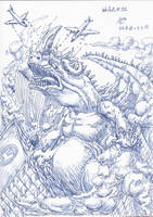 InkArt #32: Kaiju-Attack!! by blue-hugo