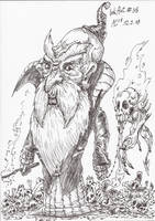InkArt #36: Schwarzmagier Mellron by blue-hugo