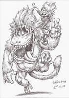 InkArt #41: Monsterfreunde! by blue-hugo