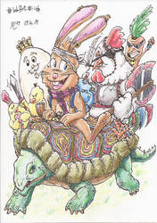InkArt #46: Ostern ist gerettet! Colo-Edition by blue-hugo