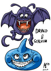 Drako und Schleim| FreeArt #96 by blue-hugo