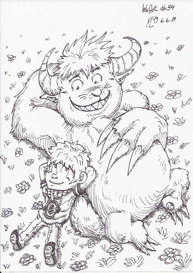 InkArt #54: Monsterfreunde! #2 by blue-hugo