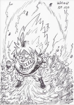 InkArt #60: Super Saiyajin Orange